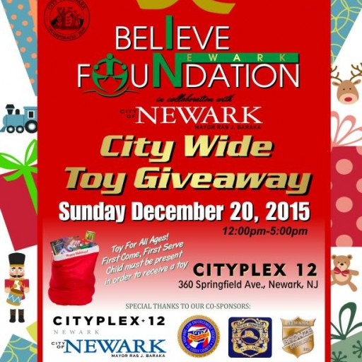 "Mayor Baraka And The ""Believe In Newark Foundation"" Will Host Their Annual City Wide Toy Giveaway"